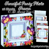 Fanciful Pansy Photo Frame