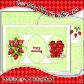 Strawberry Patch Tri Shutter Card