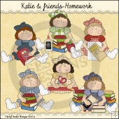 Katie and Friends Homework ClipArt Graphic Collection