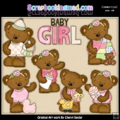 Twila The Baby Bear ClipArt Collection
