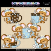 Mouse House Cocoa And Snow ClipArt Collection