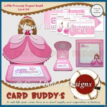 Little Princess Shaped Easel Card Kit