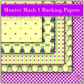 Monster Mash 1 Backing Papers Download (C67)