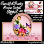 Fanciful Pansy Card Topper