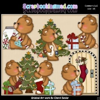 Attic Andy Christmas ClipArt Collection