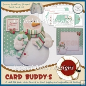 Snowy Greetings Shaped Fold Card Kit