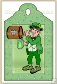 Irish Man (2) Decorative Tag - REF_T89