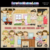 Best Of Friends ClipArt Graphic Collection