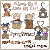 Lil Kittens ClipArt Graphic Collection