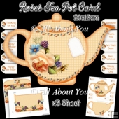 Roses Tea Pot Card