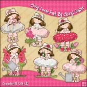 Cloey Loves Pink ClipArt Graphic Collection