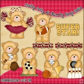 Chubby Cubby All Stars ClipArt Graphic Collection