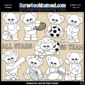 Sugar Plum Bears All Stars EXCLUSIVE Digital Stamp Graphic