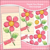 Thank You Flower Decoupage Download