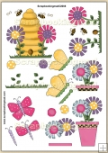 Butterflies N Blooms PDF Decoupage Download