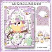 Cute Owl Diamond Fold Card Kit