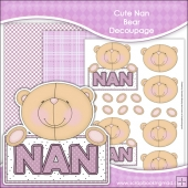 Cute Nan Bear Decoupage Download