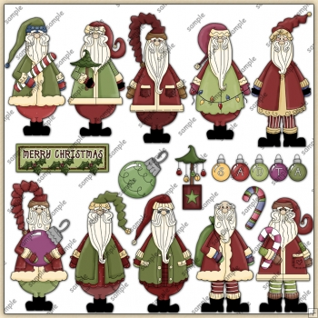 Jolly Ol Saint Nick ClipArt Graphic Collection 2