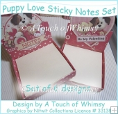 Puppy Love Sticky Notes Set