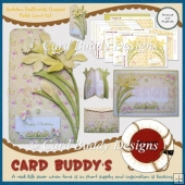 Golden Daffodils Shaped Fold Card Kit