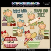 Miss Ginger Sugar And Spice ClipArt Collection