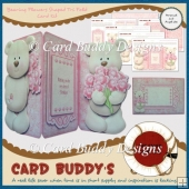 Bearing Flowers Shaped Tri Fold Card Kit