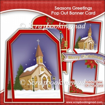 Seasons Greetings Pop Out Banner Card