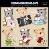 Tuff And Tiger Get Well Soon ClipArt Collection