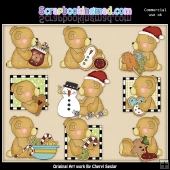 Stuffington Christmas Bears ClipArt Collection