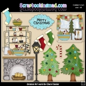 Christmas Home ClipArt Collection