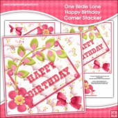 One Birdie Lane - Happy Birthday Corner Stacker