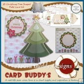 3D Christmas Tree Shaped Fold Card Kit