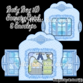 Baby Boy 3D Scenery Card & Envelope