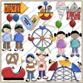 Theme Park ClipArt Graphic Collection