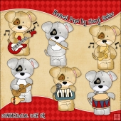 Musical Pups ClipArt Graphic Collection