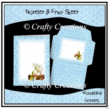 Woodland Critters Notelet & Envy Set