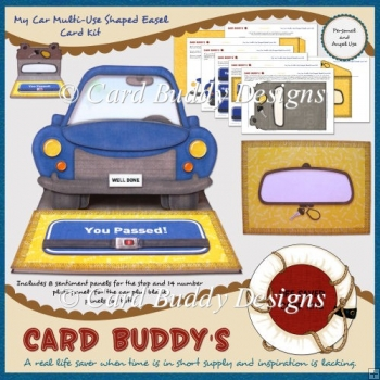 My Car Multi-Use Shaped Easel Card Kit