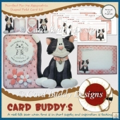 Purrfect For Me Assymetric Shaped Fold Card