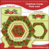 Christmas Cones Plate Card