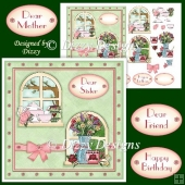 Floral Windows Card Front