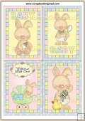 4 Baby Bunny Quick Greeting Cards PDF Download
