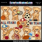 Sugar Plum Bears All Stars EXCLUSIVE ClipArt Collection