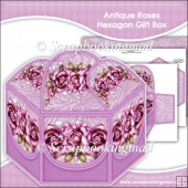 Antique Roses Hexagon Gift Box