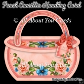 Peach Camillia Handbag Card