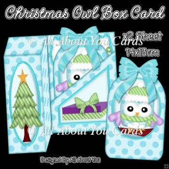 Christmas Owl Gift Box Card