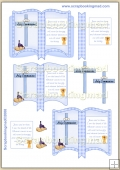 Blue Holy Communion Open Book PDF Decoupage Download