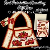 Red Poinsettia Handbag Gift Box