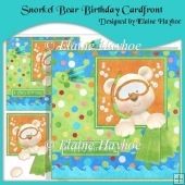 Snorkel Bear Birthday Cardfront