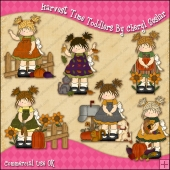 Harvest Time Toddlers ClipArt Graphic Collection