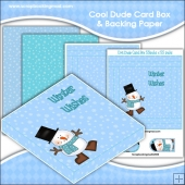 Cool Dude Christmas PDF Decoupage Card Box & Backing Paper